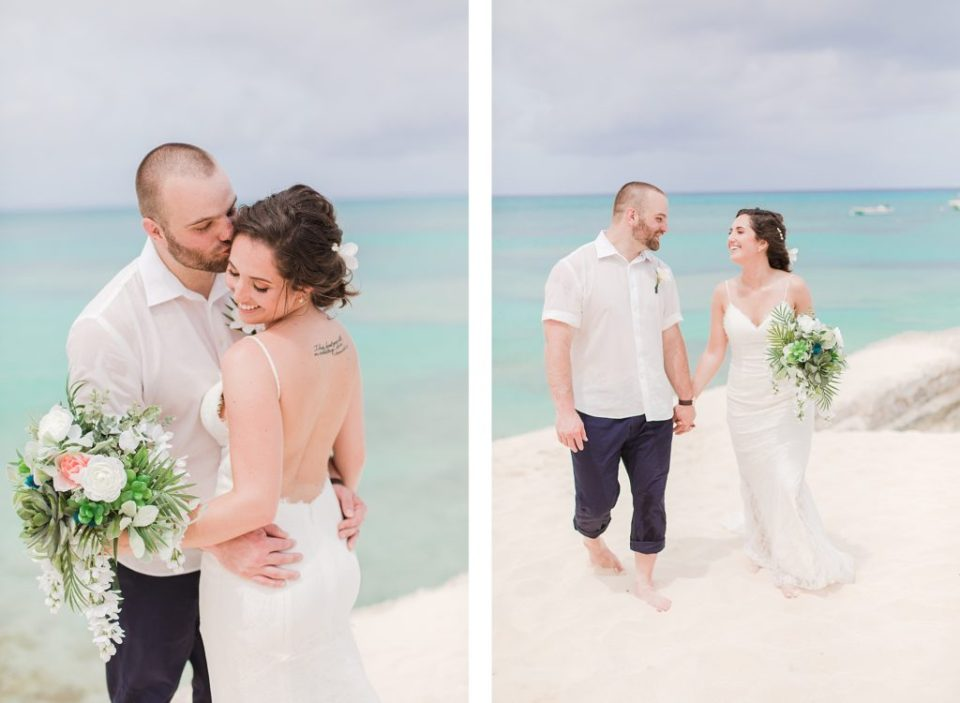 bride and groom portraits in Grand Turk by Costola Photography