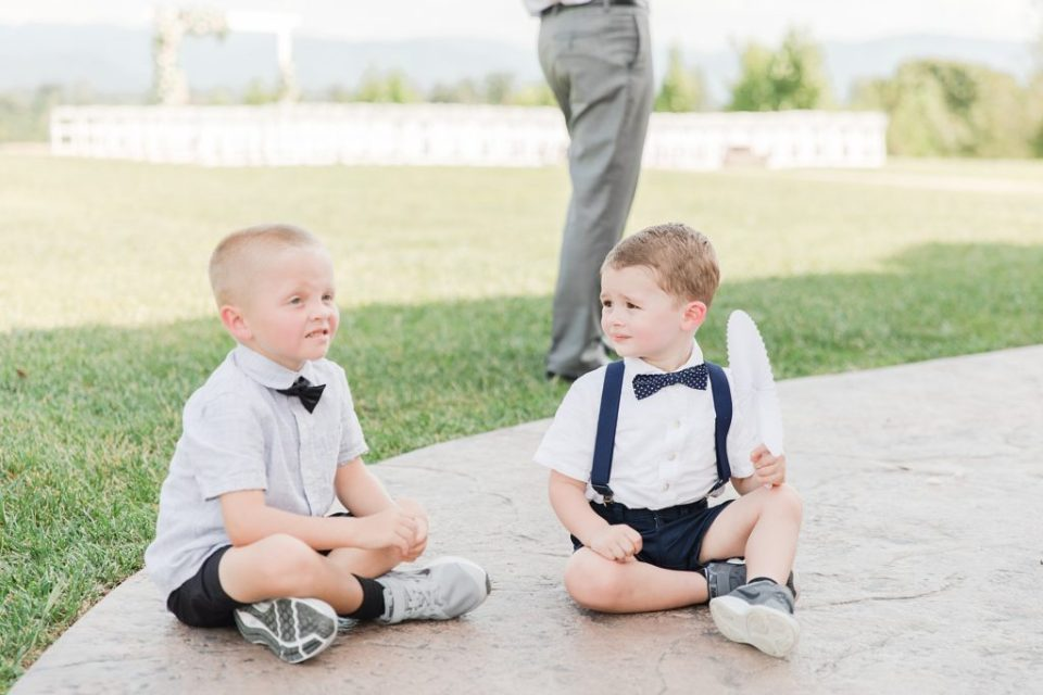 Ring Bearers at classic Tennessee wedding by Costola Photography