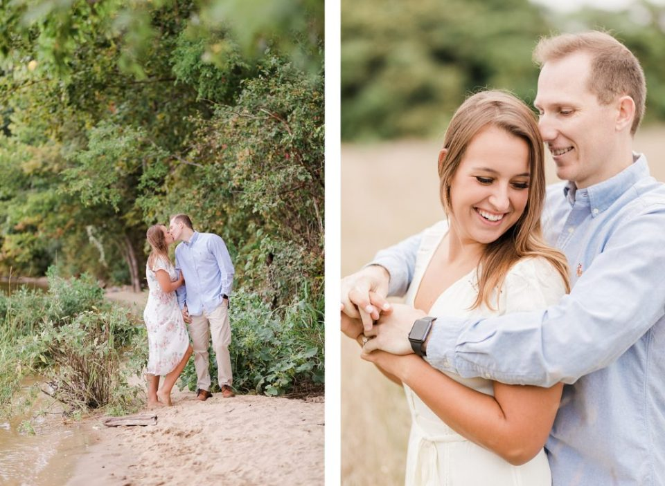 Couples Southern Maryland Engagement Session on the beach by Costola Photography