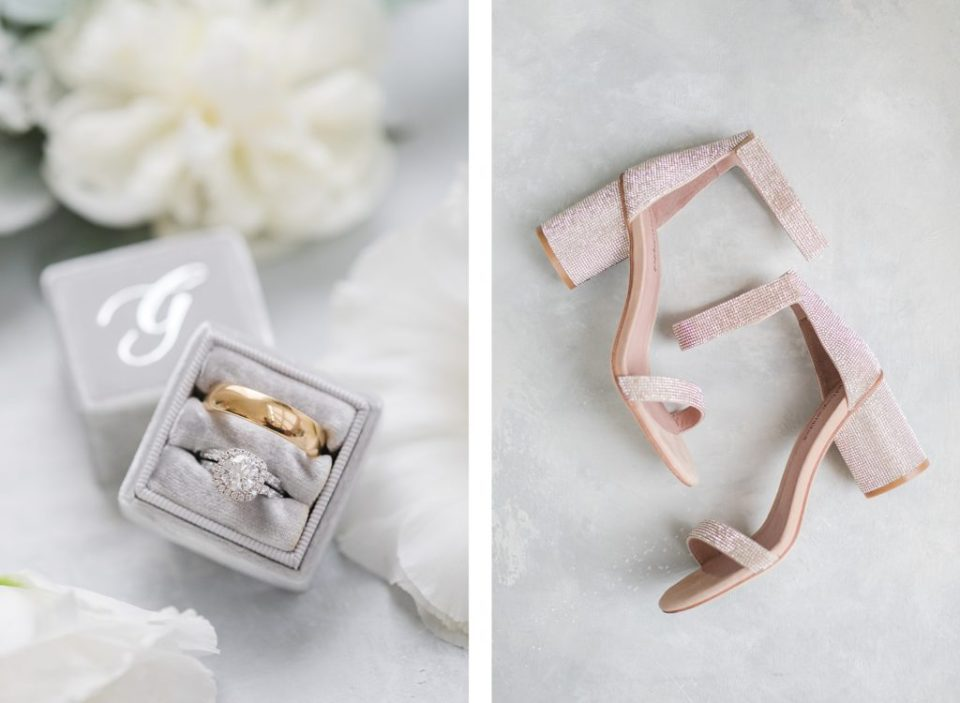 mrs box wedding rings and shoes by Costola Photography