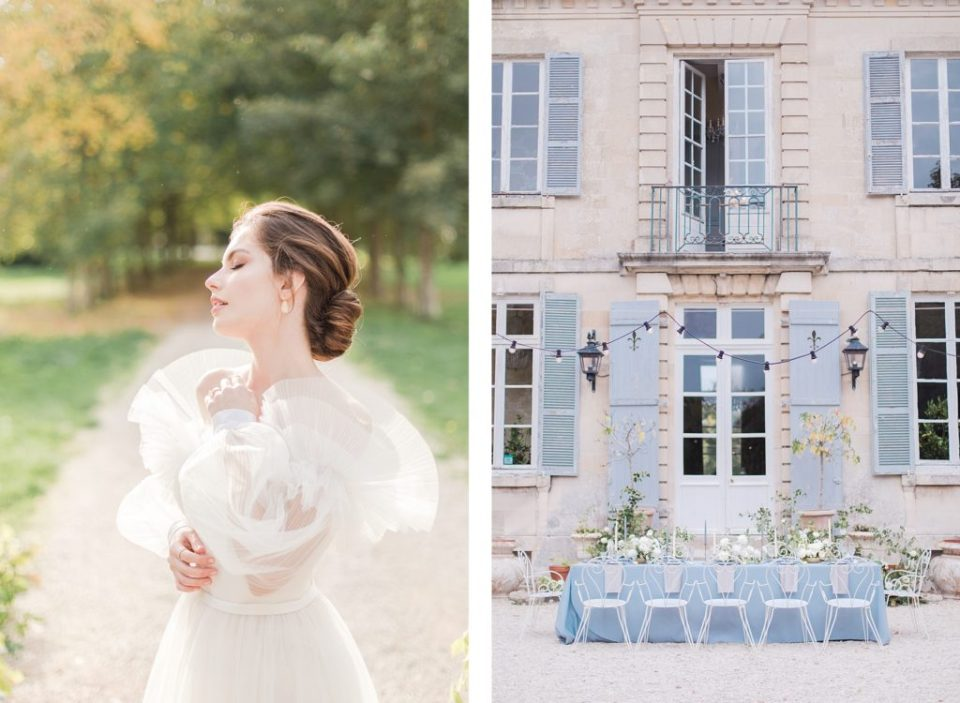 Reception Table at Chateau De Mairy in Champagne France by Destination Wedding Photographer Costola Photography