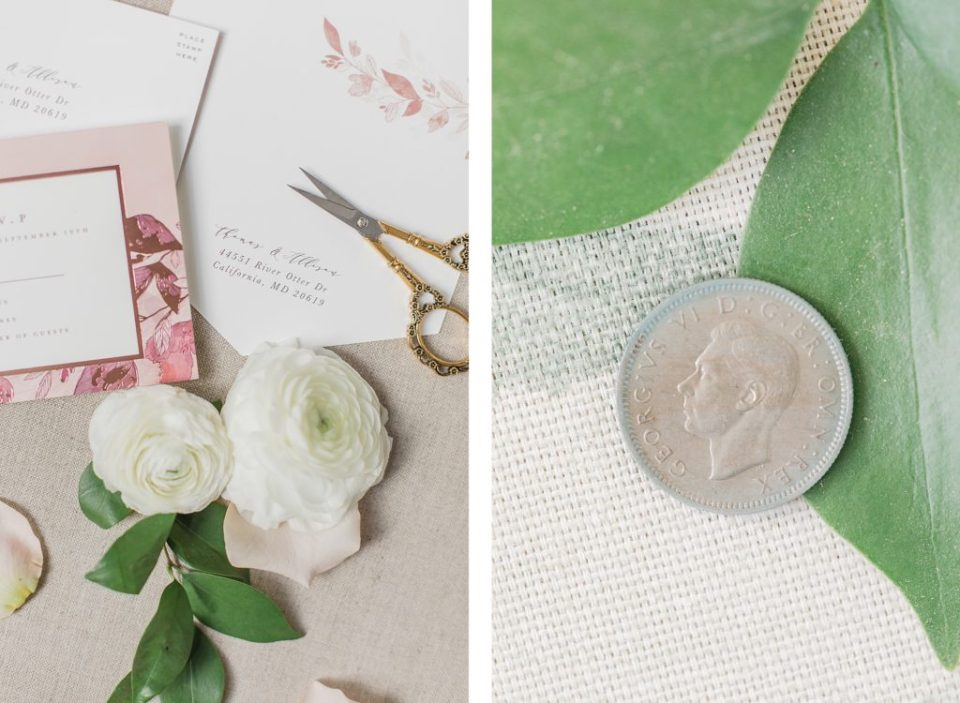 Invitation Suite at Sotterley Plantation Wedding in Southern Maryland by Costola Photography