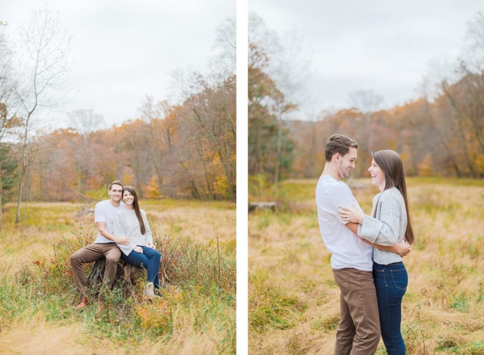 Fall Thorpewood Engagement by Costola Photography