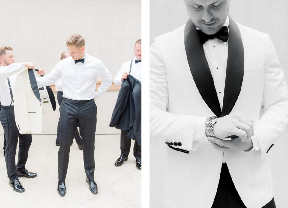 Groom Getting Ready at The Running Hare Vineyard by Costola Photography