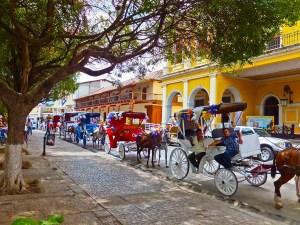 Cab-stand-on-central-square-Granada