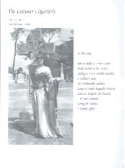 Costumers Quarterly Vol 11 No 1