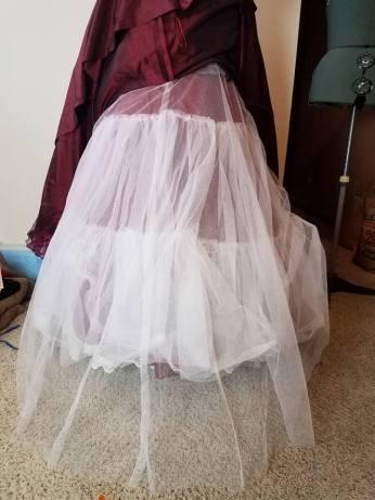 petticoat net and lining