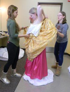 add gold dress