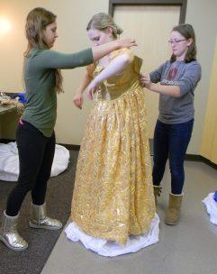 fasten gold dress
