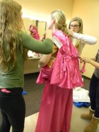 snapping the pink dress, Cinderella