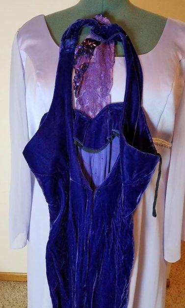 back dress #2 purple velvet