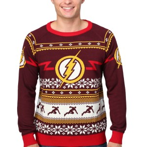 Flash Logo Ugly Christmas Sweater for Men S M L 2X 3X