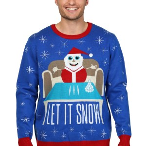 Men's Let it Snow Ugly Christmas Sweater
