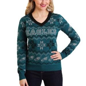 Philadelphia Eagles Light Up V-Neck Bluetooth Sweater for Women