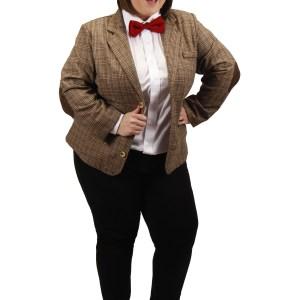 Plus Size Eleventh Doctor Women's Costume Jacket
