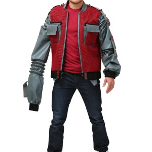 Plus Size Men's Authentic Marty McFly Jacket Costume from Back to the Future 2X