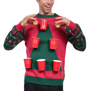 Tipsy Elves Beer Pong Ugly Christmas Sweater for Men