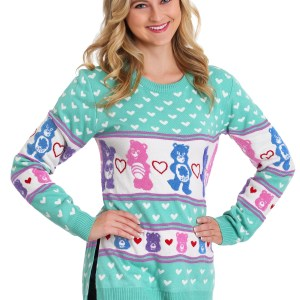 Hi-Lo Care Bears Ugly Christmas Sweater for Women
