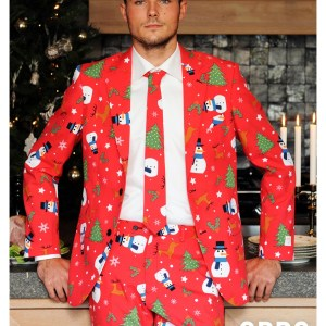 Men's OppoSuits Red Christmas Costume Suit