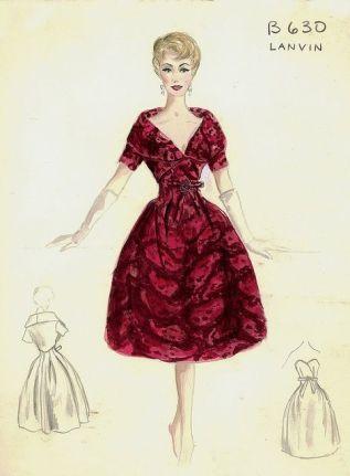 Robe Lanvin des années 50 (2)