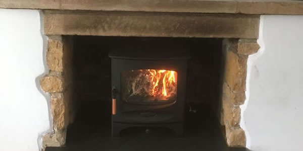 Woodburner and Slate Hearth Installation in Langport