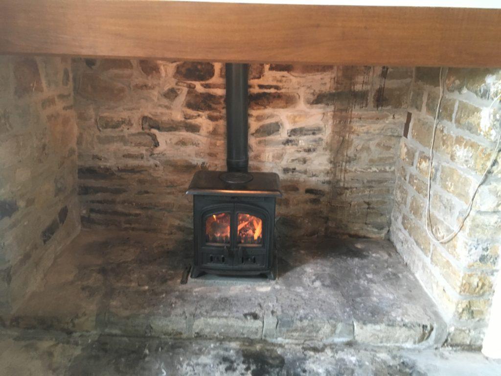 Wood burning stove installation in Street, near Glastonbury