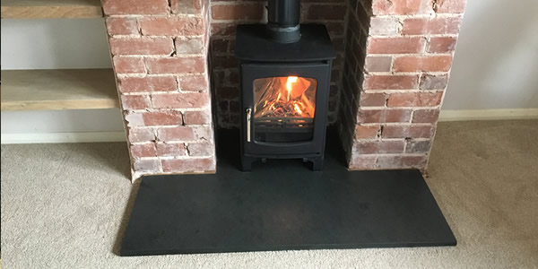 Hetas wood burner installation in Tiverton
