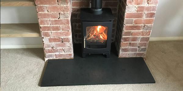 Hetas wood burner installation in Tiverton