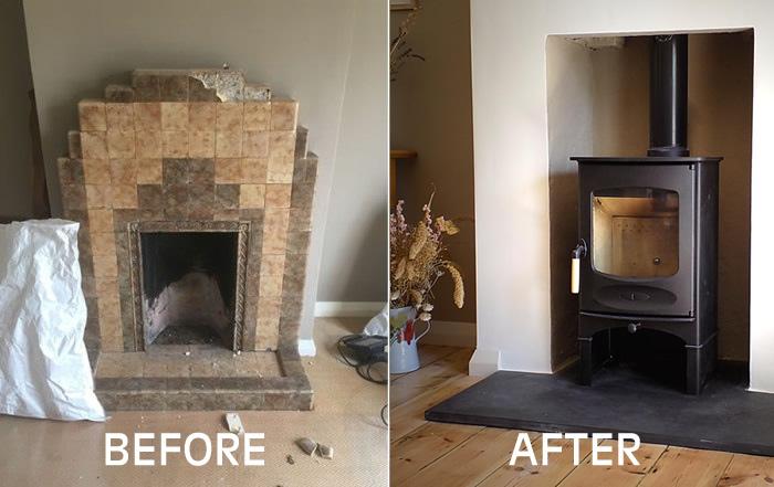 Install Charnwood C4 Blu Wood burning stove