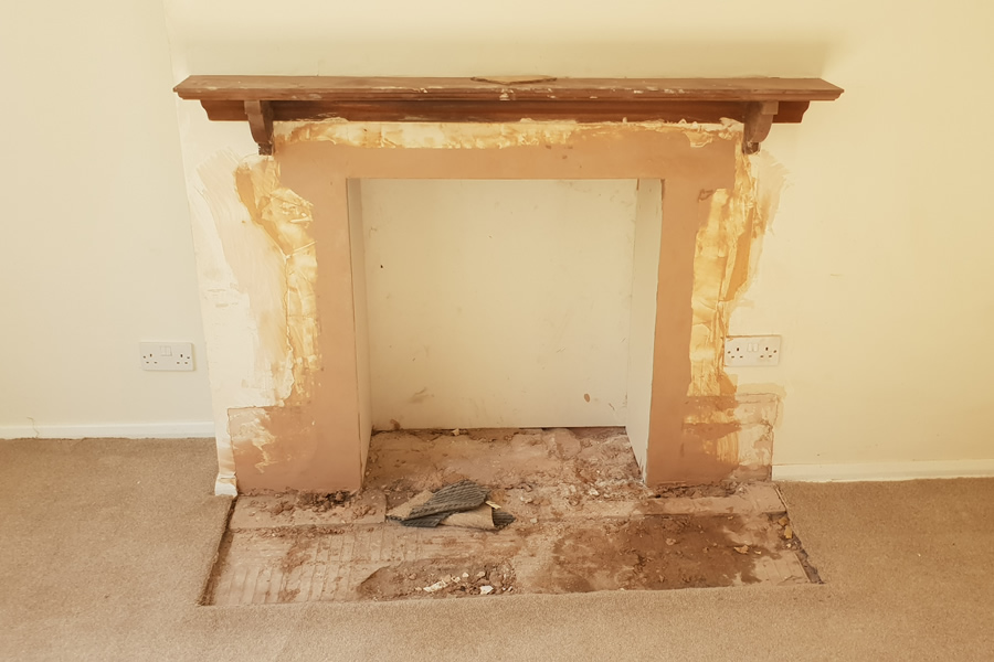 Woodburner firelace removal