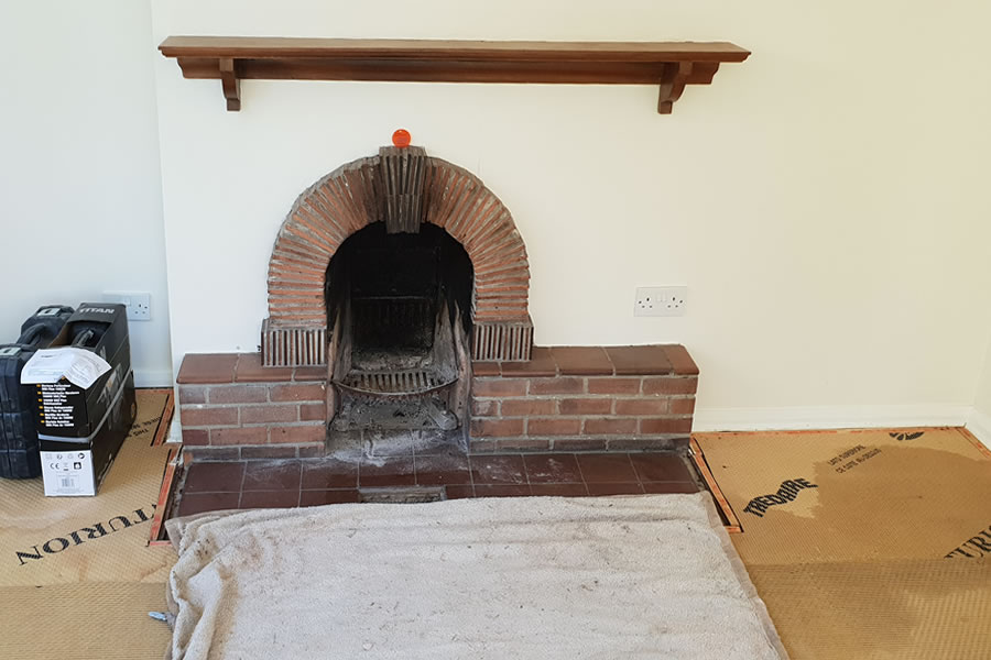 Wood burner knockout and installation Trull
