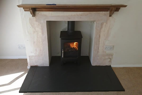 Completed installation of Wood burner in Trull, Taunton