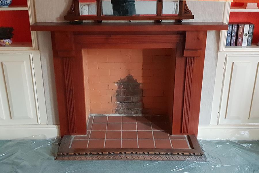 Before installation of woodburner