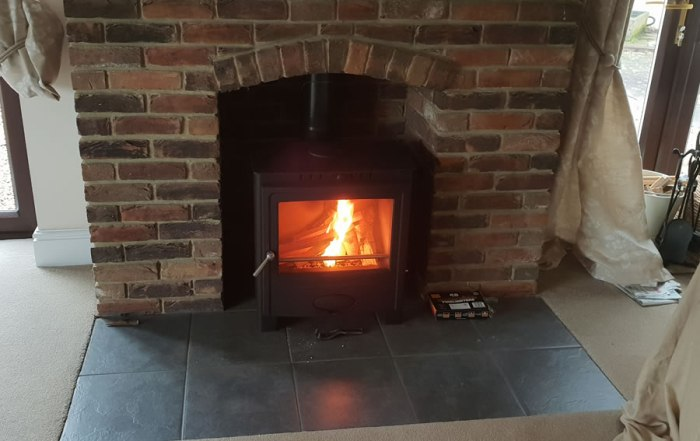 Solution 5 Multi Fuel Woodburner Stove installation-Fitzhead Taunton