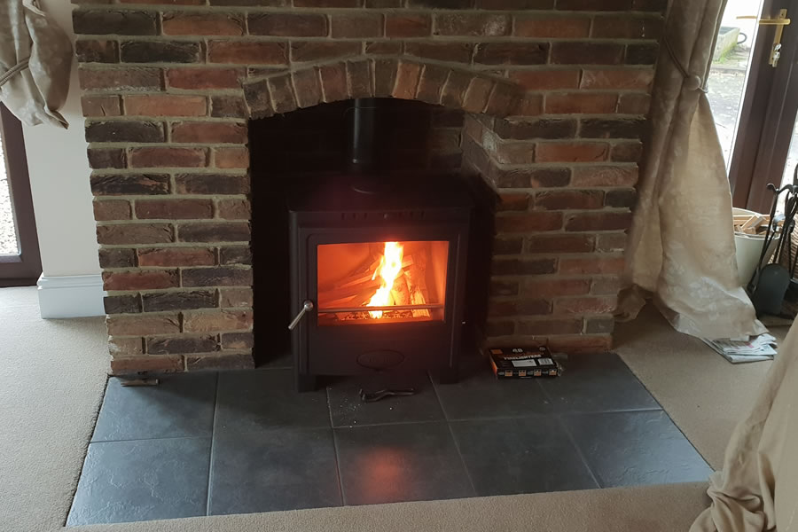 Solution 5 Multi Fuel Woodburner Stove installation-Fitzhead Taunton