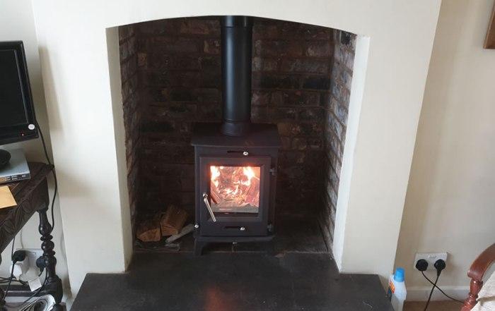 Ecosy Woodburner Installation in Porlock