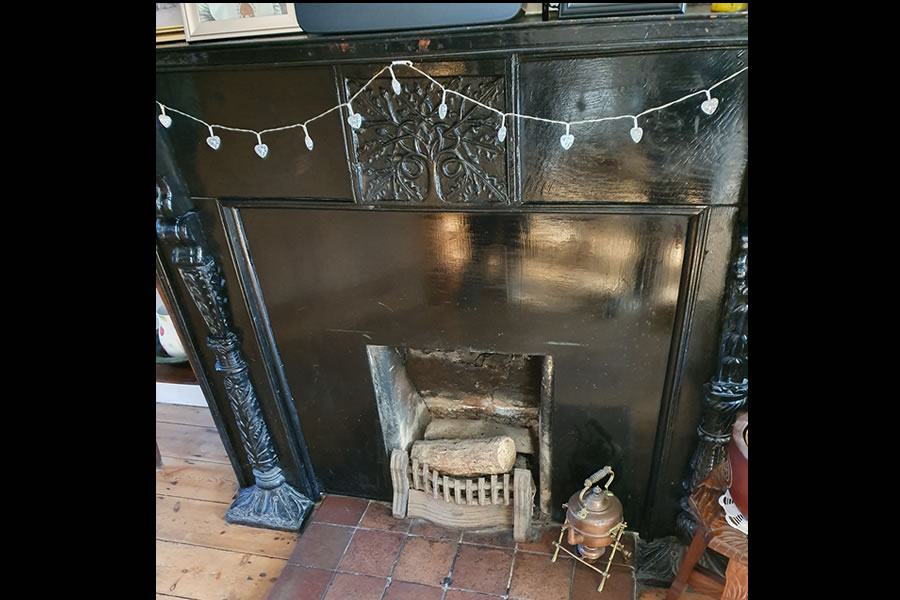 Wood burner installation in Woolavington Before