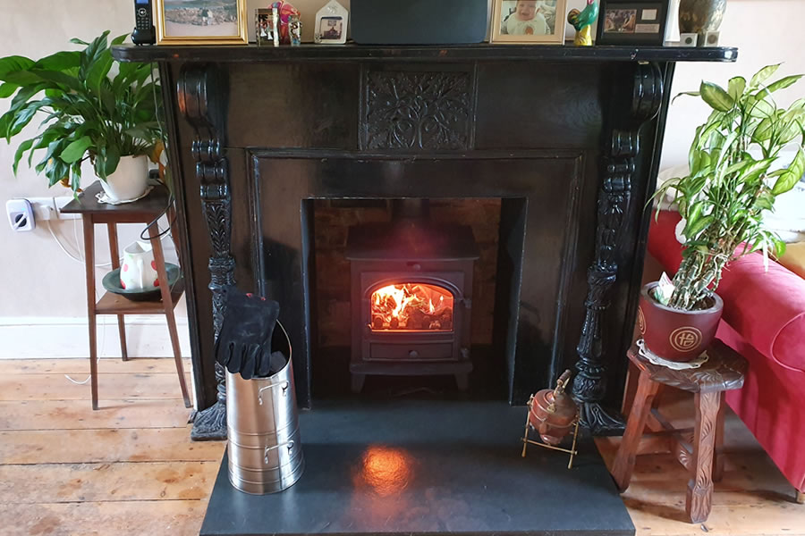 Wood burner installation in Woolavington After