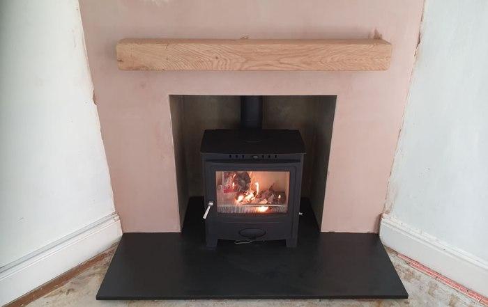 Finished Fireplace Renovation