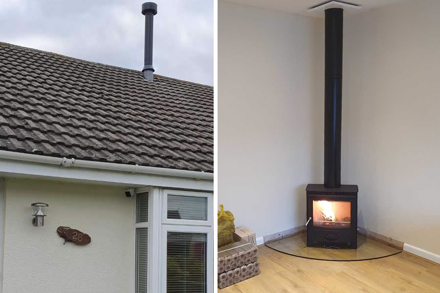 Twinwall chimney installers in Bridgwater, Somerset