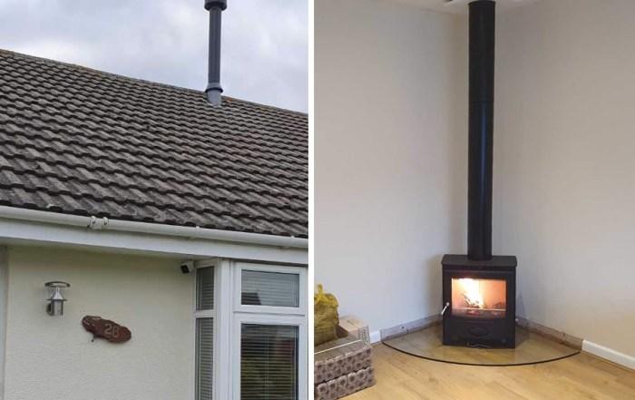 Twinwall chimney installers in Bridgwater, Somerset