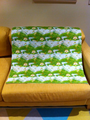 Heather Ross Frog Pond fabric as the backing on Baby Blanket #1