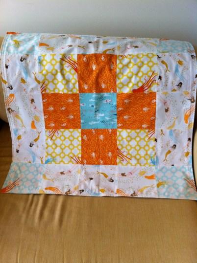 Baby blanket #2. Simple patchwork blanket