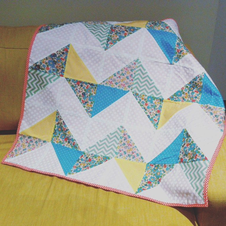 Chevron Libarty Baby Blanket