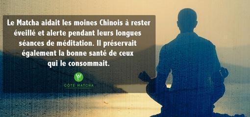 méditation histoire thé matcha moines
