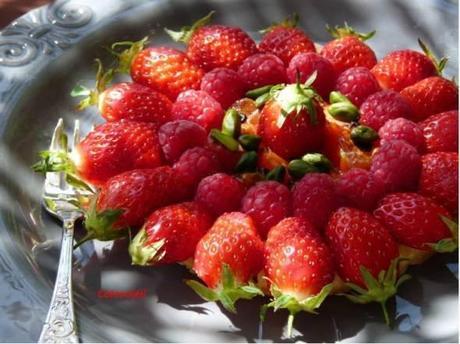Tarte fine fruits rouge & tomates cerise