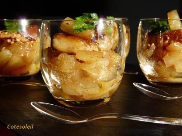 Verrine foie gras ananas caramélisé