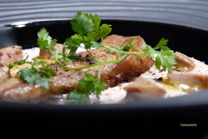 Crème de coco & foie gras poêlé