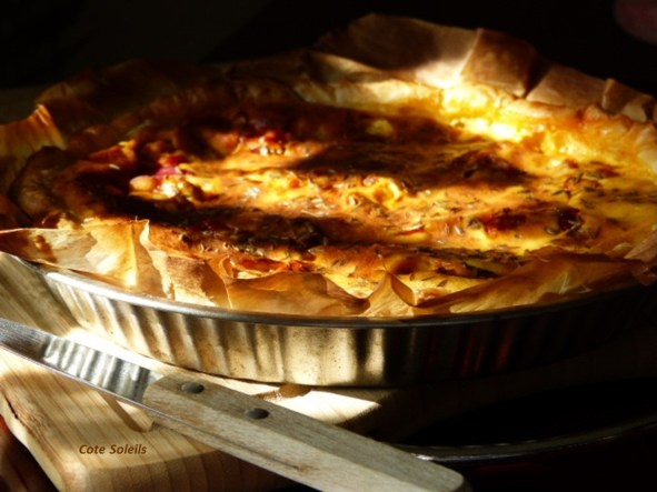 Quiche poulet au curry
