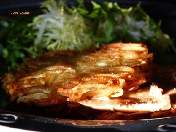 Carpaccio de foie gras cru en portefeuille croustillant